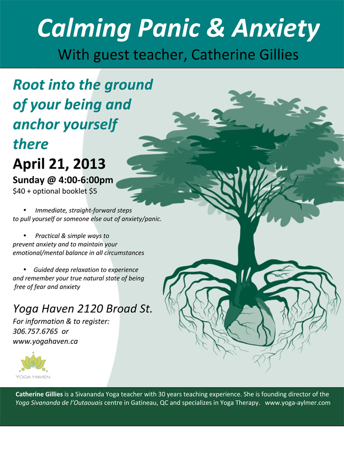 Calming Panic and Anxiety Workshop | Yoga Haven Regina ...